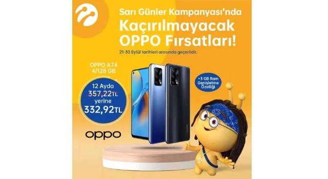 OPPO A74 ve OPPO Enco Air Sarı Günler Kampanyasında İndirimli Fiyatlarıyla Turkcell Mağazalarında