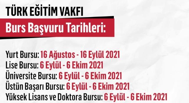 Türk Eğitim Vakfı Bursları İçinBaşvurular Başladı!